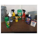 LOT OF CLEANERS, PLANT FOOD, ETC