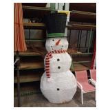 LIGHTED SNOWMAN DECOR 6FT TALL