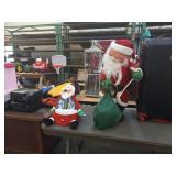 2 SANTA CHRISTMAS DECORATIONS