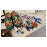 WOODEN CLOGS, MISC ITEMS