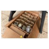 BOX OF GOLDEN HARVEST SALT AND PEPPER MASON JARS