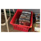 CRATE OF DVDS