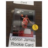 LEBRON JAMES ROOKIE BASKETBALL CARD