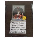 MICHAEL JORDAN ERROR 90 HOOPS BASKETBALL CARD