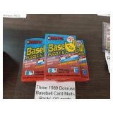 3 DONRUSS BASEBALL CARD PACKS