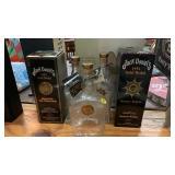 JACK DANIELS BOTTLES & 2 BOXES