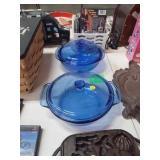 BLUE PYREX BOWLS