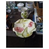 FLORAL PRINT BOWL AND PITCHER