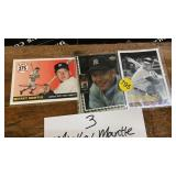 3 MICKEY MANTLE CARDS