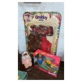 BARBIE DOLL, DOLL IN GLOBE, GRUBBY DOLL OUTFIT