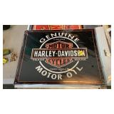 HARLEY DAVIDSON MOTOR OIL METAL SIGN
