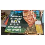 CAMPING WITHOUT BEER METAL SIGN