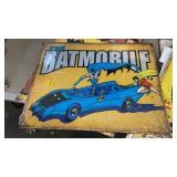 BATMAN BATMOBILE METAL SIGN