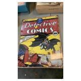 BATMAN DETECTIVE COMICS METAL SIGN