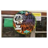 """SORRY OUT OF CANDY METAL SIGN, 22"""""""