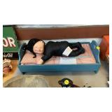 ANNE GEDDES DOLL AND BED