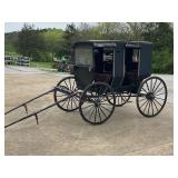 HORSE DRAWN AMISH BUGGY