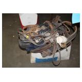 BOX OF HORSE TACK