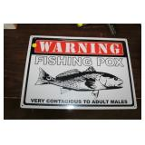 FISH POX METAL SIGN