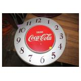 VINTAGE METAL COCA COLA CLOCK FACE