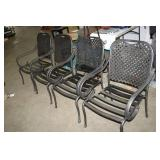 METAL OUTDOOR CHAIR, 4X BID