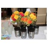 CANISTER SET, FLORAL DECOR