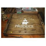 WOODEN PRODUCE SIGN/TRAY, 30X22""