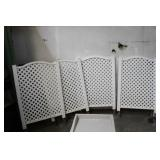 FOUR PRIVACY/GARDENG FENCE PANELS