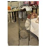 THREE TIER METAL BASKET STAND