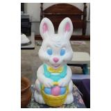 VINTAGE LIGHT UP EASTER BUNNY BLOW MOLD