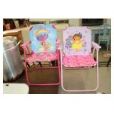 TWO DORA KIDS CHAIRS