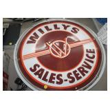 WILLYS SERVICE NEON SIGN, 25""