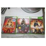 3 XBOX 360 FABLE GAMES