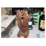WOODEN ROLLING CHICKEN TOY
