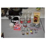 LOT OF COLLECTOR ITEMS,GLASSES,ETC