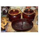 MARCREST BOWL & HULL BEAN POTS