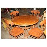 "44"" DINING TABLE & 4 CHAIRS"