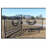PAIR OF UNUSED 10 FT EACH METAL ENTRANCE GATES