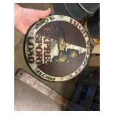 SHOTGUN SHELL METAL DOME SIGN