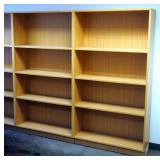 "6 Ft Adjustable Book Shelves With 3 Shelves, 72"" x 39"" x 12.25"", Qty 2"