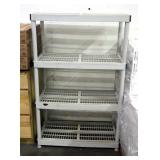 "Keter Hard Plastic Storage Shelf With 4 Shelves, 55"" x 36"" x 18"""