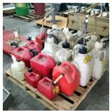 Fuel Can Assortment, Including 5 Gal. Racing Fuel Containers, 5 Gal Gasoline Container, Contents Of