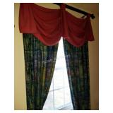 Panel Drapes/Curtains w/ Rods lot of 3- each