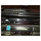 Lot of Electronics 2 VHS players and 1 DVD player