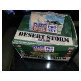 Box of Desert Storm Trading Cards