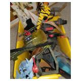 Bin of Various Vintage Aircraft Toys