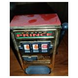 Vintage Coin Bank Casino Prince Mini Slot Machine