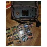 Vintage Atari Game Set- LYNX- Includes Case,