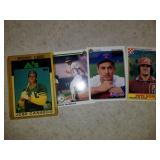 Lot of 4 Cards - Ryan, Rose, Henderson, Canseco