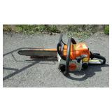 Stihl Chain Saw, MS170 has bar cover running